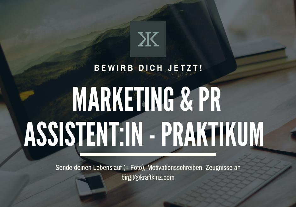 Jobangebot: Marketing & PR Assistent:in – Praktikum