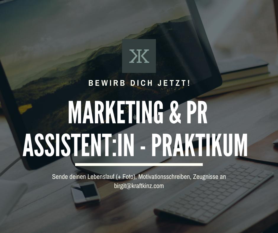 Jobangebot Marketing und PR Assistent:in